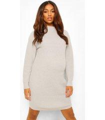 zwangerschaps jurk met col, light grey