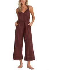 billabong juniors' bella day striped cropped jumpsuit