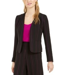 bar iii striped open-front jacket, created for macy's