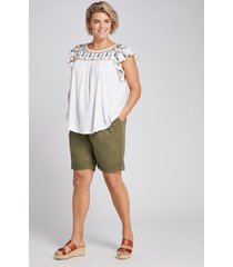 lane bryant women's pull-on bermuda short 10/12 dried sage