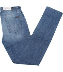 7 for all mankind women's roxanne classic skinny jean in bright sky blue
