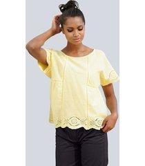 blouse alba moda geel