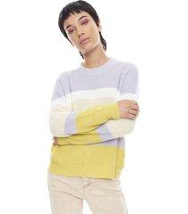 sweater básico rayas lila rayas  corona