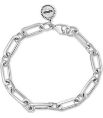 effy men's oval link bracelet in sterling silver