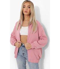 oversized coach jas, dusky pink