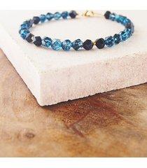 bransoletka ametyst i niebieski kwarc
