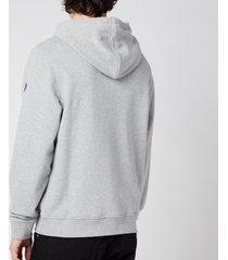 belstaff men's 1924 pullover hoodie - grey melange/dark ink - xxl