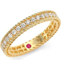 roberto coin women's symphony 18k yellow gold & diamond braided princess ring/size 6.5 - size 6.5