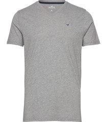 v solids t-shirts short-sleeved grå hollister