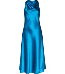 sies marjan andy cowl-neck midi dress - blue