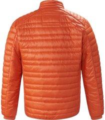 gewatteerde jas in bikerstijl van calamar oranje