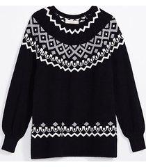 loft maternity cable fair isle sweater