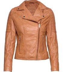 biker jacket läderjacka skinnjacka brun depeche