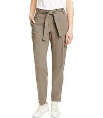 women's nordstrom signature belted linen blend pants