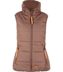gilet imbottito a collo alto (marrone) - bpc bonprix collection