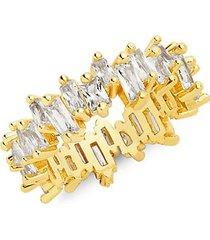 14k gold vermeil & crystal ring