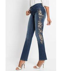 jeans met borduursel, bootcut