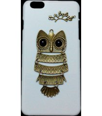cute fashion retro bronze metal owl branch hard back case skin for iphone 6 plus