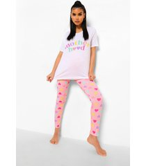 zwangerschap 'mother hood' pyjama set, pink