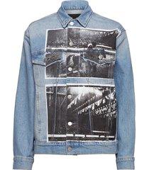 classic trucker jeansjack denimjack blauw calvin klein jeans