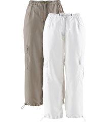 pantaloni cropped (pacco da 2) (marrone) - bpc bonprix collection