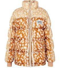 deer print puffer jacket