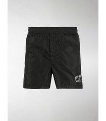 valentino vltn logo patch swim shorts