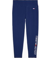 tommy hilfiger women's essential logo legging deep blue - xs