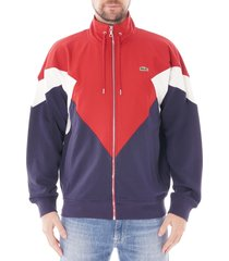 lacoste colourblock fleece zip jacket |red| sh8637-z55