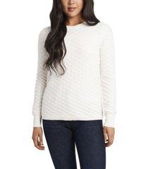 women's long sleeve textured knit sweater