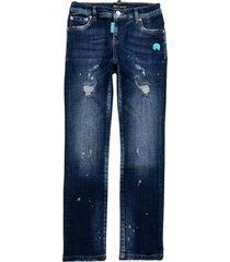 my brand dark denim destroyed jeans