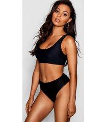 mix & match bikini top met grotere cupmaat, zwart