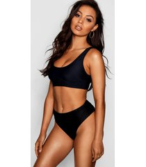mix & match fuller bust bikini top, black