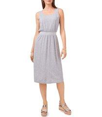 women's vince camuto embroidery waist sleeveless cotton & modal dress, size x-small - metallic