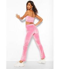 babygirl' steentjes broek met rechte pijpen, roze