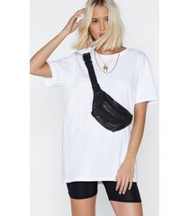 womens crew neckline t-shirt and high-waisted biker shorts set - blackwhite