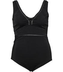 catiffany, swimsuit baddräkt badkläder svart zizzi