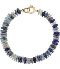 irene neuwirth 18kt rose gold opal bead bracelet - blue