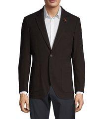tailorbyrd men's waffle texture blazer - black - size 42 l