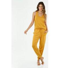 pijama para mujer tennis, pijamas conjunto entero mostaza