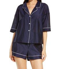 women's papinelle mia short pajamas, size xx-large - blue