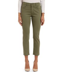 mavi jeans mavi viola high waist raw hem ankle straight leg jeans, size 30 x 29 in olivine la vintage at nordstrom