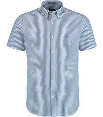 gant overhemd broadcloth blauw rf 3062001/436