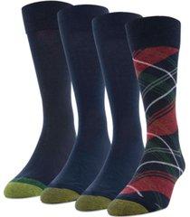 gold toe men's 4-pack christmas plaid socks