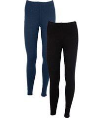 leggings (pacco da 2) (blu) - bodyflirt