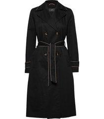 coats woven trench coat rock svart esprit collection