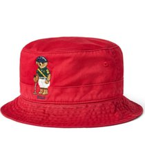 polo ralph lauren men's polo bear chino bucket hat