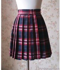 red plaid skirt plus size plaid pleated skirts women girl plaid mini skirts nwt