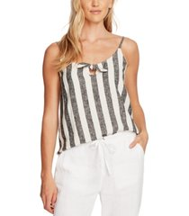 vince camuto striped tie-front camisole
