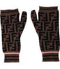 ff logo print gloves
